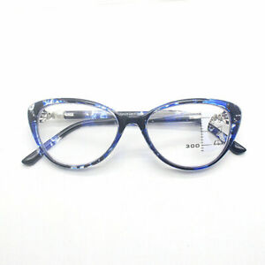 Fashion Blu-ray Cat Eye Brand Retro Progressive Multi Focus Reading Glasses TR90