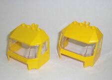 LEGO Eisenbahn - 2x Cockpit gelb - Zug Front Train Cab Lok Führerhaus 7939 45406