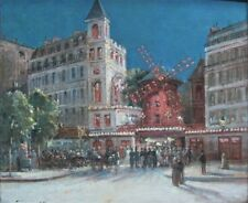 Museum-Quality GUSTAVE MASCART French Oil Painting  MOULIN ROUGE c. 1910 antique