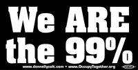 We Are The 99% - Occupy Bumper Sticker / Decal