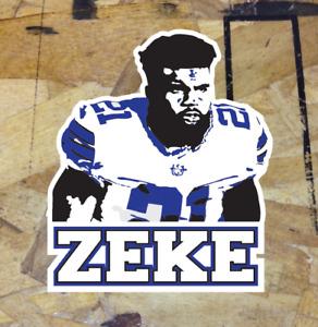 """ZEKE Ezekiel Elliott Dallas Cowboys Fan Sticker Decal Bumper Car Window 4"""""""