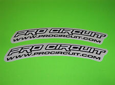 KX KXF CR CRF YZ YZF RM RMZ SX 65 85 125 250 WHITE PRO CIRCUIT FENDER STICKERS