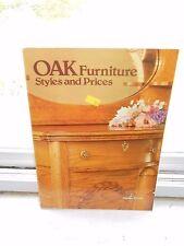 Vintage 1980 Oak Furniture Styles & Prices Nonfiction Antique Furniture Book