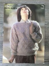 """Jaeger Knitting Pattern: Ladies Slashneck Sweater, DK, 32-42"""", 5583"""