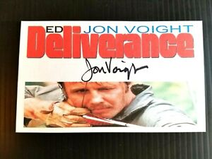 """DELIVERANCE"" JON VOIGHT ""ED"" AUTOGRAPHED 3X5 INCH INDEX CARD"