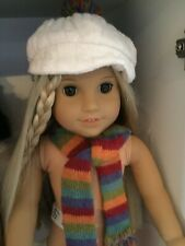 American Girl Doll Julie's Cap and Scarf - Retired 2014 - Guc