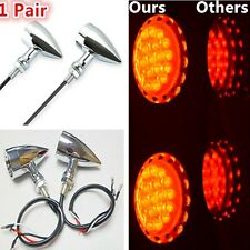 Red LED Bullet Brake Stop/Running Turn Signal Tail Lights For Harley Motorcycle