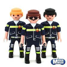 Playmobil 3 X Pompier Figurine : Pompier Pompier Sauvetage Équipe