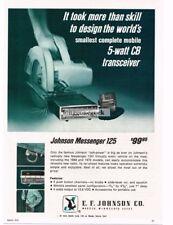1970 E. F. Johnson Messenger 125 CB Radio Tranceiver Vtg Print Ad
