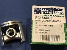 New Meteor 42mm open port Piston Kit for Alpina 450 Chainsaw 10mm pin 1 ring