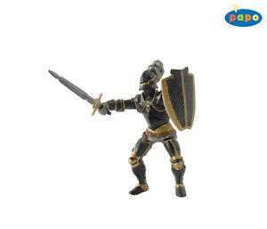 Papo 39275 Knight With Black Armor 3 1/2in Knight And Castles