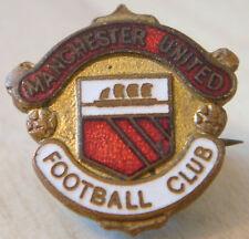 Manchester United escudo del club Vintage Tipo Insignia Broche Pin En Dorado 20 Mm x 21 mm