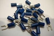 25 pacco di BLU 4.3 mm bloccaggio forcella terminale a crimpare (per 4 mm Bullone / vite)