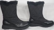 Soft Style 'Icey' Black Vylon Quilted Mid-Calf Winter Boot Women Size 6 M