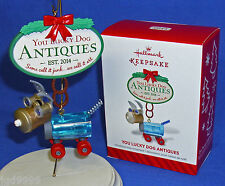 Hallmark Ornament You Lucky Dog Antiques 2014 Flea Market Re-Purpose Junk to Art
