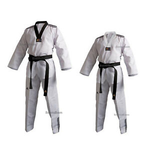 adidas Taekwondo Uniform WTF New ADI-CLUB Taekwondo Uniform Dobok Set All Sizes