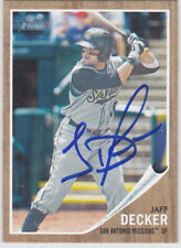 Signed Baseball Card Autograph Jaff Decker Padres Missions