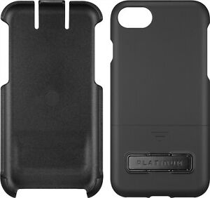 Platinum Holster Kickstand Case for Apple iPhone SE 2020, iPhone 7 and 8 - Black
