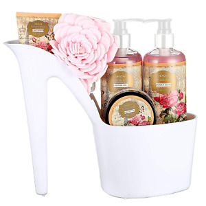 Draizee Rose Scented Home Spa Luxurious 4 Piece Relaxation with Lovely Fragrance