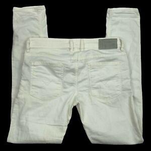 DIESEL Mens White Solid Sleenker Stretch Slim Skinny Leg Denim Jeans Size 31x30