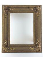 Beautiful Antique Wooden Plaster Frame Art Nouveau Aged Bronze U215