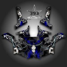 Polaris RZR 800 UTV Graphics Decal Wrap 2011 - 2014 Skull Rider Blue