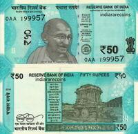 INDIA - 50 rupees 2019 GANDHI FDS - UNC