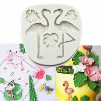 Flamingo Turtle Leaf Silicone Cake Mold Fondant Sugarcraft Chocolate Mould Tool
