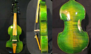 """Baroque style SONG Brand master Green 6×7 string 14"""" Viola d'Amore #9428"""