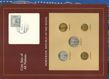 Coin Sets of All Nations South Sudan UNC 1983 20,10,2,1 Ghirsh 5 Ghirsh KM#110.1