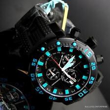 Invicta Sea Base Chronograph 53mm Swiss Made Black Blue Titanium Watch LE New