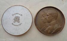 original  Medaille  BELGIEN 1910 Albert & Elisabeth