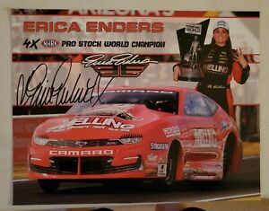 2021 NEW Autograph NHRA Picture Erica Enders Melling