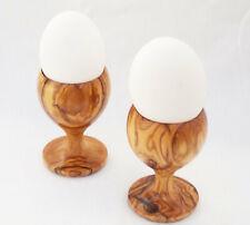 Olive Wood Egg Cup set, Wooden egg holder set, 2 egg holders