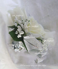 White*Ivory*Pink*Gold*Blue*Black*Silver*Champagne*Rose*Wrist*Pin*Corsage*Wedding