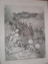 Con le forze Alleate LANCIERI DEL BENGALA sulla strada per Pechino Cina 1900 Old print