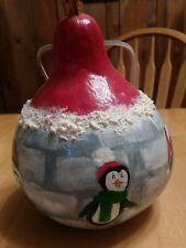 Penguin Igloo bird house gourd winter