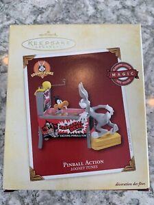 Hallmark Keepsake Pinball Action Looney Tunes Animated Ornament New in box