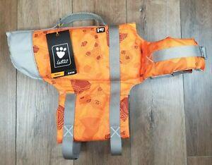 Hurtta Life Savior Dog Life Jacket 40-80 lbs Orange Camo