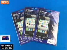 3PCS LCD Screen Cover Protector with Cleaning Cloth Set - iPhone 4 4S 4G (D03)