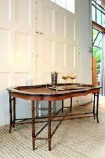Maitland Smith Faux Bamboo Tray Coffee Table Large