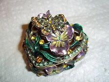Beautiful Antique Looking Heart Shaped Trinket Box