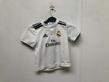 adidas Real Madrid CF Kid's 2018/19 Home Shirt -3-4 Years - Hugo 7 - White - New