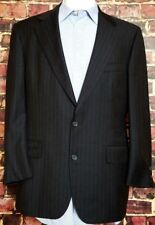 Brooks Brothers MAKERS Hand Tailored 42R Charcoal Pinstripe Blazer Coat Jacket