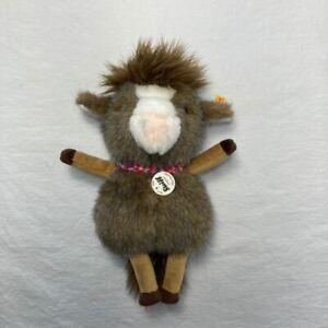 "Steiff Mini Horsilee Plush Horse w/ Ear Tag #069970 Stuffed Animal 9"""