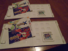 POKEMON X + POKEMON Y NINTENDO 3DS LOT 2 VIDEOGAMES COMPLETE AUTHENTIC