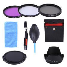 62MM UV CPL FLD Filter Kit + Lens Hood & Cap For Simga 18-125 28-300 18-250 Lens