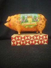 Jim Shore Heartwood Creek Enesco 2003 Country Heritage Pig #117142