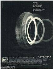 PUBLICITE ADVERTISING 095  1961  GOODYEAR   pneu 3t nylon