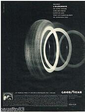 PUBLICITE ADVERTISING 095  1961  GOODYEAR   pneu 3t nylon